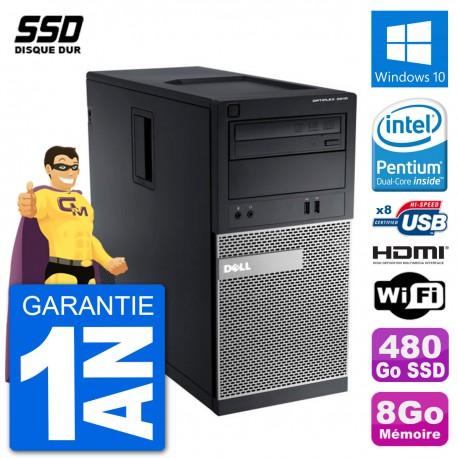 PC Dell 3010 MT G2020 RAM 8Go SSD 480Go HDMI Windows 10 Wifi