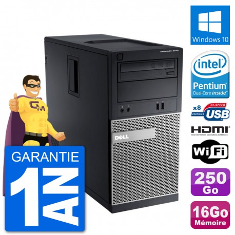 PC Dell 3010 MT G2020 RAM 16Go Disque Dur 250Go HDMI Windows 10 Wifi