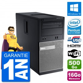 PC Dell 3010 MT G2020 RAM 16Go Disque Dur 500Go HDMI Windows 10 Wifi