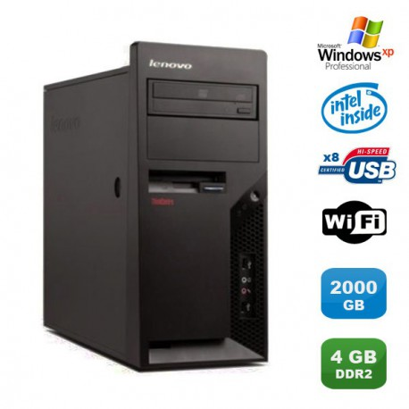 PC IBM Lenovo Thinkcentre M57 6075-CTO Pentium D 1.80Ghz 4Go 2000Go WIFI XP Pro