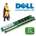 KIT RAM 8Go (2x 4Go) DDR3 PC3-10600 Mémoire Certifiée DELL Optiplex 780 NEUF