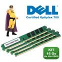 KIT RAM 16Go (4x 4Go) DDR3 PC3-10600 Mémoire Certifiée DELL Optiplex 780 NEUF