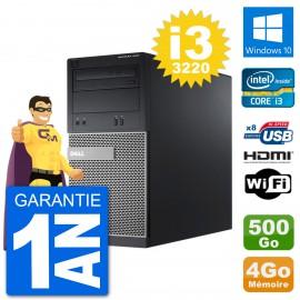 PC Dell 3010 MT i3-3220 RAM 4Go Disque Dur 500Go HDMI Windows 10 Wifi
