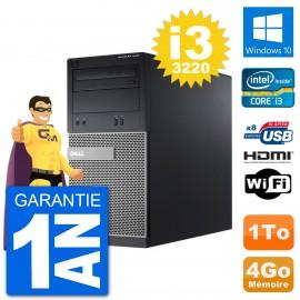 PC Dell 3010 MT i3-3220 RAM 4Go Disque Dur 1To HDMI Windows 10 Wifi