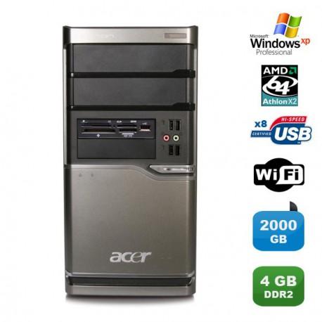 PC ACER Veriton M420 Athlon X2 4850B 2.5Ghz 4Go 2000Go Graveur WIFI Win XP pro