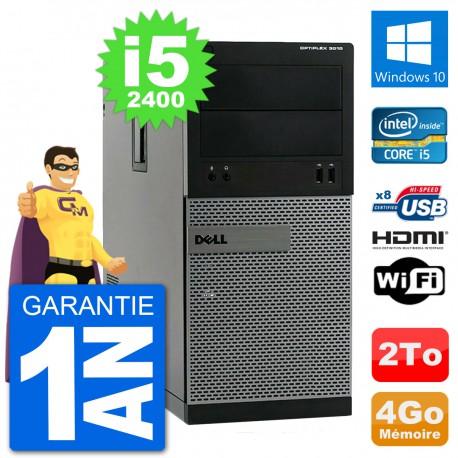 PC Dell 3010 MT i5-2400 RAM 4Go Disque Dur 2To HDMI Windows 10 Wifi