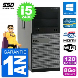 PC Dell 3010 MT i5-2400 RAM 8Go SSD 120Go HDMI Windows 10 Wifi