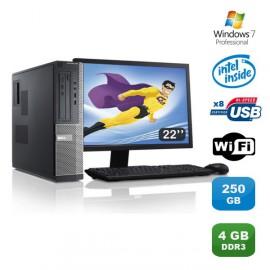 Lot PC DELL Optiplex 3010 DT G640 2.8Ghz 4Go 250Go Graveur WIFI W7 Pro +Ecran 22