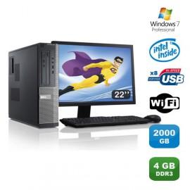 Lot PC DELL Optiplex 3010 DT G640 2.8Ghz 4Go 2To Graveur WIFI W7 Pro +Ecran 22