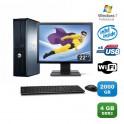 Lot PC DELL Optiplex 760 DT Dual Core E5200 2,5Ghz 4Go 2To Wifi W7 Pro +Ecran 22