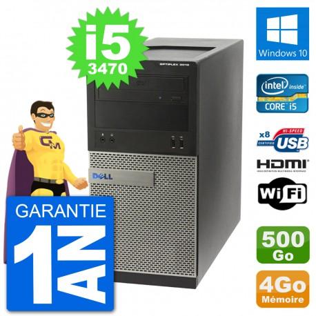 PC Dell 3010 MT i5-3470 RAM 4Go Disque Dur 500Go HDMI Windows 10 Wifi