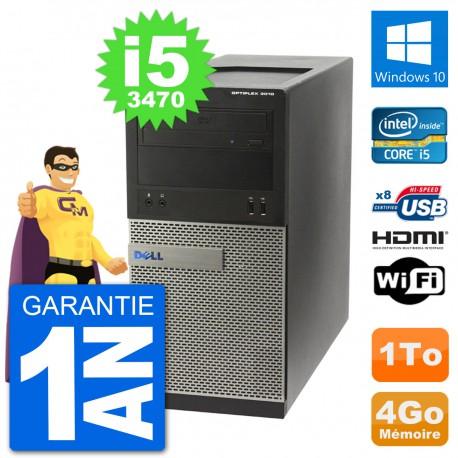 PC Dell 3010 MT i5-3470 RAM 4Go Disque Dur 1To HDMI Windows 10 Wifi