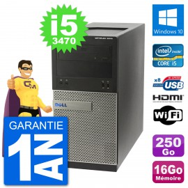 PC Dell 3010 MT i5-3470 RAM 16Go Disque Dur 250Go HDMI Windows 10 Wifi