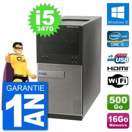 PC Dell 3010 MT i5-3470 RAM 16Go Disque Dur 500Go HDMI Windows 10 Wifi