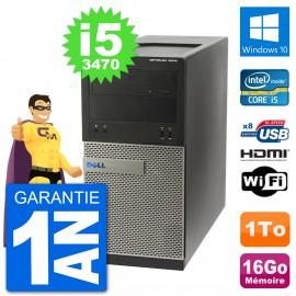 PC Dell 3010 MT i5-3470 RAM 16Go Disque Dur 1To HDMI Windows 10 Wifi