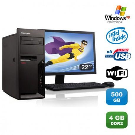 """Lot PC Lenovo M57 6075-CTO Pentium D 1.80Ghz 4Go 500Go WIFI XP Pro + Ecran 22"""""""