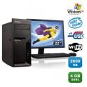 "Lot PC IBM Lenovo M55E 9389-CTO Pentium D 3Ghz 4Go 2To WIFI XP Pro + Ecran 22"""