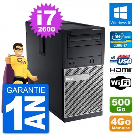 PC Dell 3010 MT i7-2600 RAM 4Go Disque Dur 500Go HDMI Windows 10 Wifi