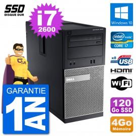 PC Dell 3010 MT i7-2600 RAM 4Go SSD 120Go HDMI Windows 10 Wifi