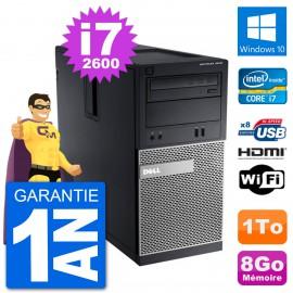 PC Dell 3010 MT i7-2600 RAM 8Go Disque Dur 1To HDMI Windows 10 Wifi