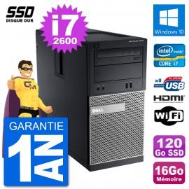 PC Dell 3010 MT i7-2600 RAM 16Go SSD 120Go HDMI Windows 10 Wifi