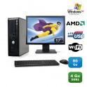 """Lot PC DELL Optiplex 740 SFF Athlon 2.7GHz 4Go DDR2 80Go WIFI XP Pro + Ecran 17"""""""