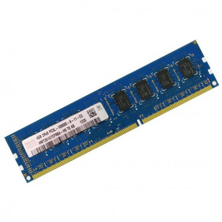 4Go RAM Serveur Hynix HMT351U7BFR8A-H9 DDR3 PC3-10600E ECC 2Rx8 1333Mhz CL9