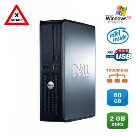 [GRADE X] PC DELL Optiplex 760 DT Dual Core E5200 2,5Ghz 2Go DDR2 80Go XP Pro