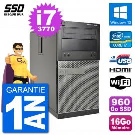 PC Dell 3010 MT i7-3770 RAM 16Go SSD 960Go HDMI Windows 10 Wifi