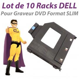 Lot x10 Rack PVC Dell 390 790 3010 3020 7010 9020 SFF PB60147 Graveur DVD Slim