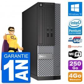 PC Dell Optiplex 3020 SFF G3220 RAM 4Go Disque Dur 250Go Windows 10 Wifi