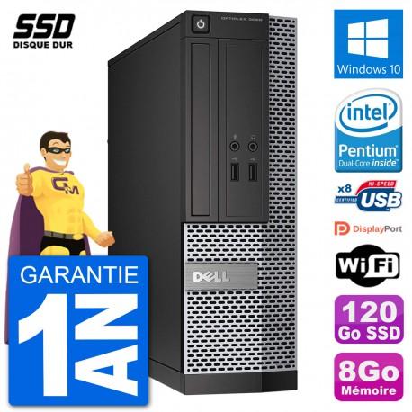 PC Dell Optiplex 3020 SFF G3220 RAM 8Go SSD 120Go Windows 10 Wifi