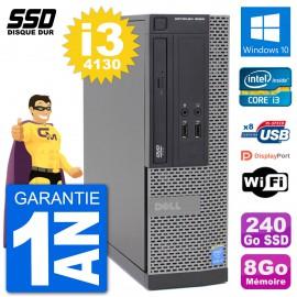 PC Dell Optiplex 3020 SFF i3-4130 RAM 8Go SSD 240Go Windows 10 Wifi