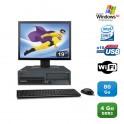 """Lot PC Lenovo M55 8810 Intel E4300 1.8Ghz 4Go 80Go WIFI Win Xp Pro + Ecran 19"""""""