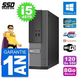 PC Dell Optiplex 3020 SFF i5-4570 RAM 8Go SSD 120Go Windows 10 Wifi