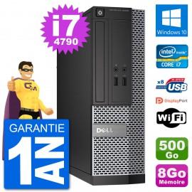 PC Dell Optiplex 3020 SFF i7-4790 RAM 8Go Disque Dur 500Go Windows 10 Wifi