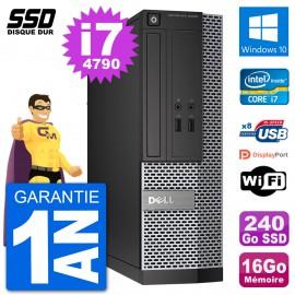 PC Dell Optiplex 3020 SFF i7-4790 RAM 16Go SSD 240Go Windows 10 Wifi