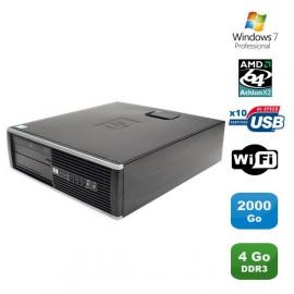 PC HP Compaq 6005 Pro SFF AMD Athlon X2 215 2.7GHz 4Go 2To WIFI Graveur W7 Pro