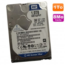 "Disque Dur 1To SATA 2.5"" WD Scorpio Blue WD10JPVT-60A1YT0 671957-001 8Mo"