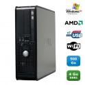 PC DELL Optiplex 740 SFF AMD Athlon 64 2.7GHz 4Go DDR2 500Go WIFI DVD Win XP Pro