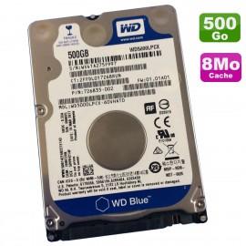 "Disque Dur 500Go SATA 2.5"" WD Blue WD5000LPCX-60VHAT0 PC Portable 5400RPM 16Mo"