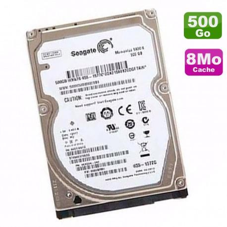 """Disque Dur 500Go SATA 2.5"""" Seagate Momentus 5400.6 ST9500325ASG 9KAG34-043 8Mo"""