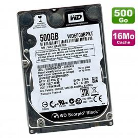 """Disque Dur 500Go SATA 2.5"""" WD Scorpio Black WD5000BPKT-22PK4T0 7200RPM 16Mo"""
