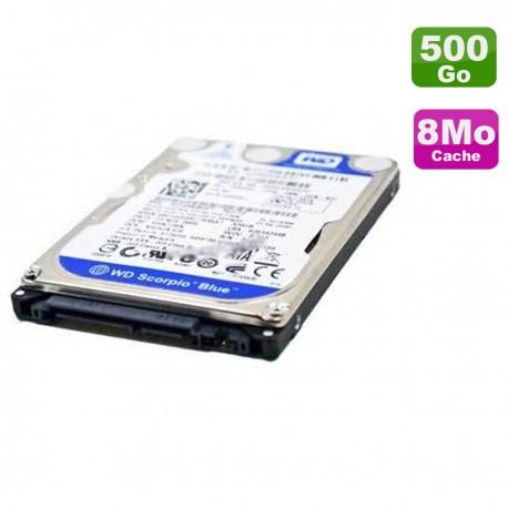 "Disque Dur 500Go SATA 2.5"" WD Scorpio Blue WD5000BPVT-75HXZT3 0P4HFC P4HFC 8Mo"
