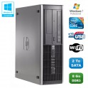 PC HP Compaq Elite 8200 SFF Intel Core i7-2600 3.4GHz 8Go 2To Graveur WIFI W7