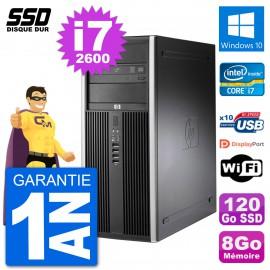 PC Tour HP 8200 Intel Core i7-2600 RAM 8Go SSD 120Go Windows 10 Wifi
