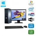 """Lot PC DELL Optiplex 760 DT Dual Core E5200 2,5Ghz 4Go 2To WIFI W7 + Ecran 19"""""""