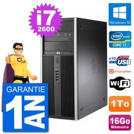 PC Tour HP 8200 Intel Core i7-2600 RAM 16Go Disque Dur 1To Windows 10 Wifi