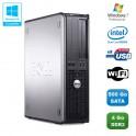 PC DELL Optiplex 760 DT Intel Dual Core E5200 2,5Ghz 4Go DDR2 500Go WIFI Win 7