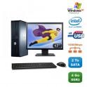 """Lot PC DELL Optiplex 760 DT Dual Core E5200 2,5Ghz 4Go 2To XP Pro + Ecran 17"""""""